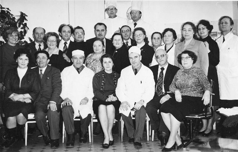 С сотрудниками кафедры, 1970 г.