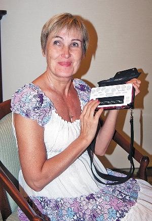 Наталья Залевская с органайзером