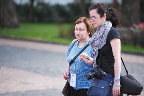 Н.Б. Кремнева и волонтер Ирина Моисеева