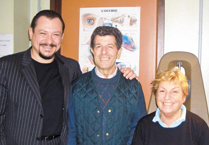 Пациенты А.В. Золотарева после «живой хирургии». Милан, 2005 г.