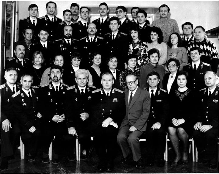 Коллектив кафедры офтальмологии. 1993 г.