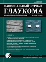 «Национальный журнал глаукома» №2,  2018