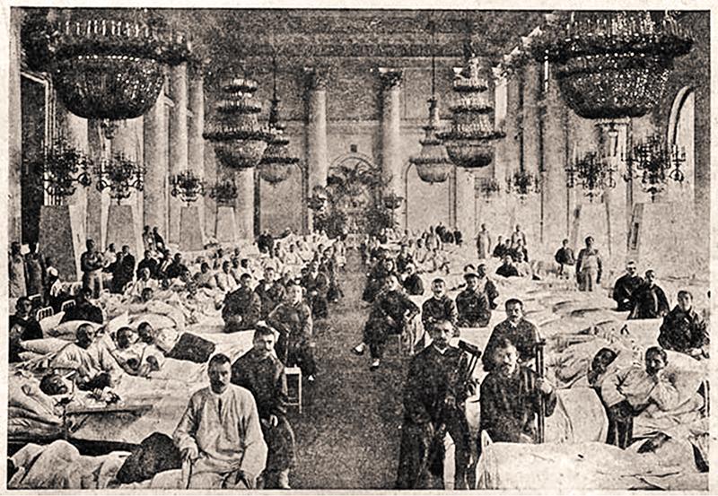 Лазарет для раненых в Зимнем дворце